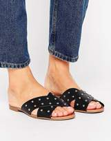 New Look Studded Cross Strap Mule