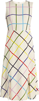Mary Katrantzou Osmond sleeveless checked crepe dress