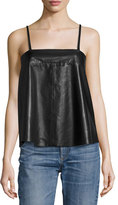 Zadig & Voltaire Cali Lamb Leather Sleeveless Top, Noir