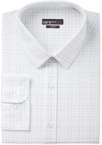 Bar III Men's Slim-Fit White Check Dress Shirt, Only at Macy's