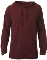Fox Heather Burgundy Pitted Pullover Hoodie