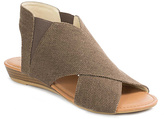 Pierre Dumas Brown Canvas Brenna Sandal
