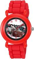 Disney Boy's 'Cars' Quartz Plastic and Silicone Casual Watch, Color: (Model: WDS000002)