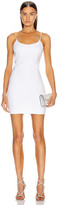 Cushnie Sleeveless Crystal Chain Mini Dress in White | FWRD