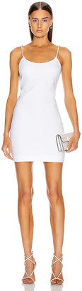 Cushnie Sleeveless Crystal Chain Mini Dress in White | FWRD