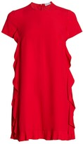 RED Valentino Side Ruffle Mini Dress