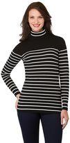 Haggar Women's Striped Turtleneck Sweater