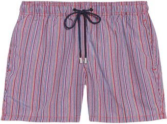 Bugatchi Stripe Swim Trunks