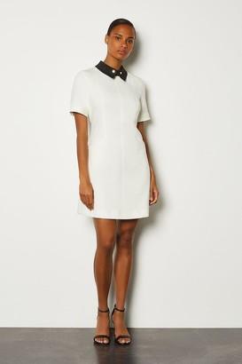 Karen Millen Collared A-Line Short Dress