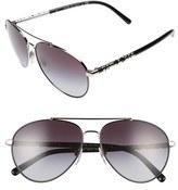 Burberry Women's 58Mm Aviator Sunglasses - Gradient Brown