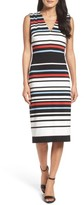 Maggy London Women's Stripe Midi Dress