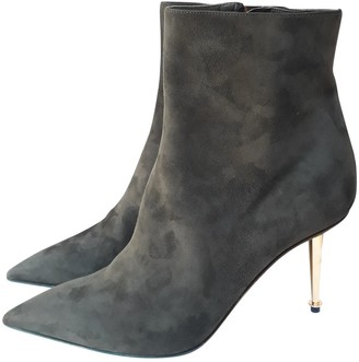Tom Ford Green Suede Ankle boots