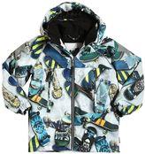 Molo Skateboard Print Hooded Nylon Ski Jacket