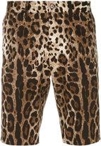 Dolce & Gabbana leopard print shorts - men - Cotton/Spandex/Elastane - 48