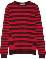 Jason Wu Striped Silk Sweater - Red