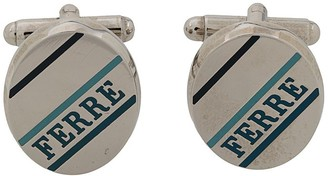 Gianfranco Ferré Pre Owned 2000s Logo Oval Cufflinks