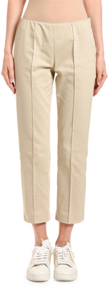 Agnona Slim-Leg Side-Zip Capris