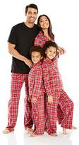 Karen Neuburger Women's Mom Minky Fleece Long Sleeve Collared Plaid Holiday Matching Pj Set