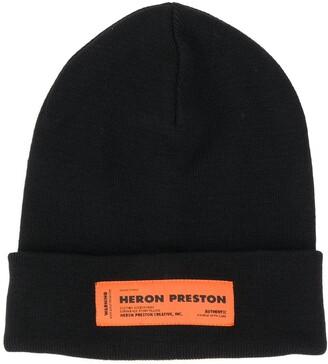 Heron Preston Logo Patch Beanie Hat