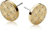 Michael Kors Heritage Metal Earrings w/Crystals
