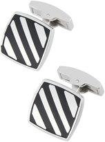 Bugatchi Square Cuff Links w/ Onyx Stripes