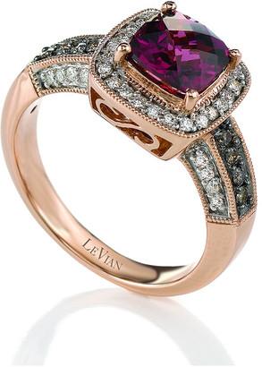 LeVian Le Vian 14K Strawberry Gold 2.03 Ct. Tw. Diamond & Rhodolite Ring