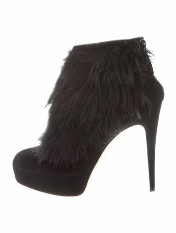 Brian Atwood Alexa Suede Boots Black