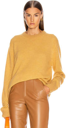 Acne Studios Kassio Cashmere Sweater in Mustard Yellow & Yellow Degrade | FWRD