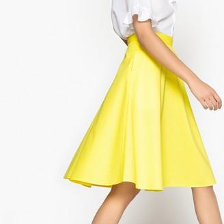 La Redoute Collections Poplin Flared Midi Skirt