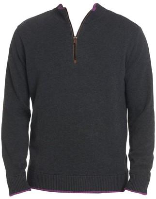 Robert Graham Selleck Quarter Zip Sweater