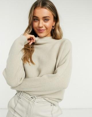 Vila oversized knit jumper in beige