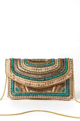 francesca's Kendall Beaded Clutch - Turquoise