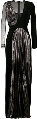 Christopher Kane Pleated Panel Long Dress