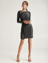 Halston Metallic Knit Dress