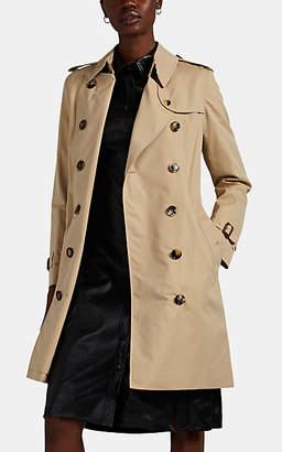 Burberry Women's Kensington Cotton Gabardine Trench Coat - Neutral
