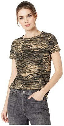 n:philanthropy Jigsaw Tiger Print BFF Tee (Natural Tiger) Women's Clothing