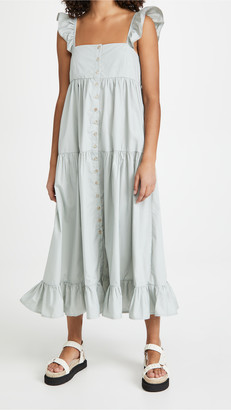 En Saison Tiered Midi Dress