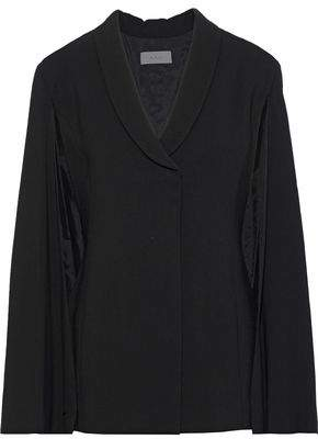 A.L.C. Valetta Cape-effect Textured-crepe Jacket