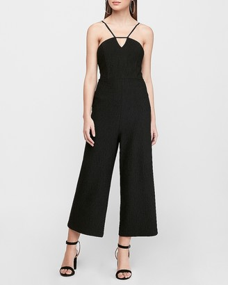 Express Textured Cut-Out Culotte Jumpsuit