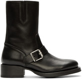 DSQUARED2 Black Leather Buckled Boots
