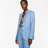 Paul Smith A Suit To Travel In - Women's Cornflower Blue Two-Button Wool Blazer