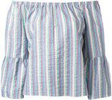 See by Chloe off shoulder blouse - women - Cotton/Spandex/Elastane - 38