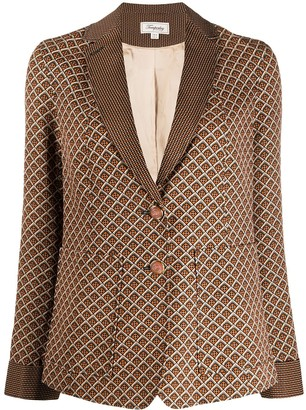 Temperley London Cecilia geometric-print blazer