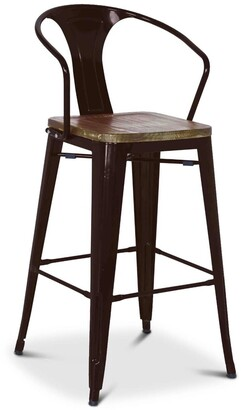 Apt2B Grand Metal Counter Chair BLACK - SET OF 4