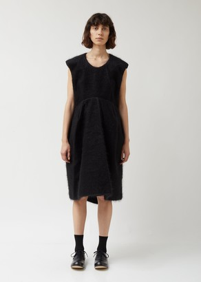 Comme des Garcons Wool Nylon Synthetic Fur Dress