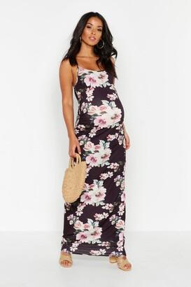boohoo Maternity Floral Maxi Dress