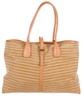 Tod's Leather-Trimmed Tote