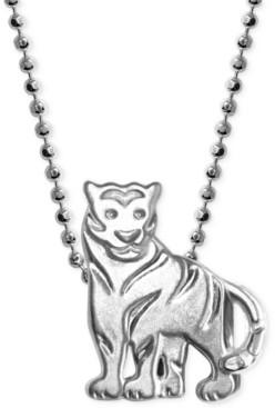 Alex Woo Little Tiger Zodiac Pendant Necklace in Sterling Silver