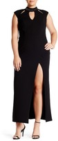 ABS by Allen Schwartz Studded Neck Stretch Crepe Scuba Gown (Plus Size)