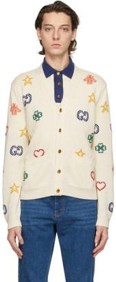 Gucci Off-White Symbols Cardigan